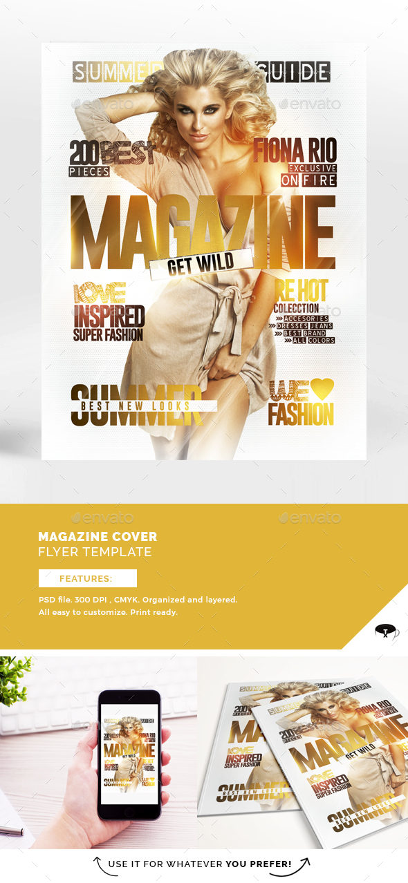 Magazine Cover Flyer Template - Events Flyers