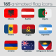 165 Animated Flag Icons - VideoHive Item for Sale