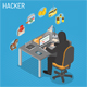 Hacker Isometric Concept