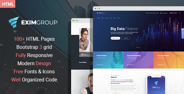 EximGroup - Finance And Business HTML Template