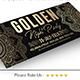Golden Facebook Cover - GraphicRiver Item for Sale