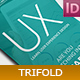 UX Design School Trifold - GraphicRiver Item for Sale