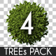 Top View Trees Pack 4