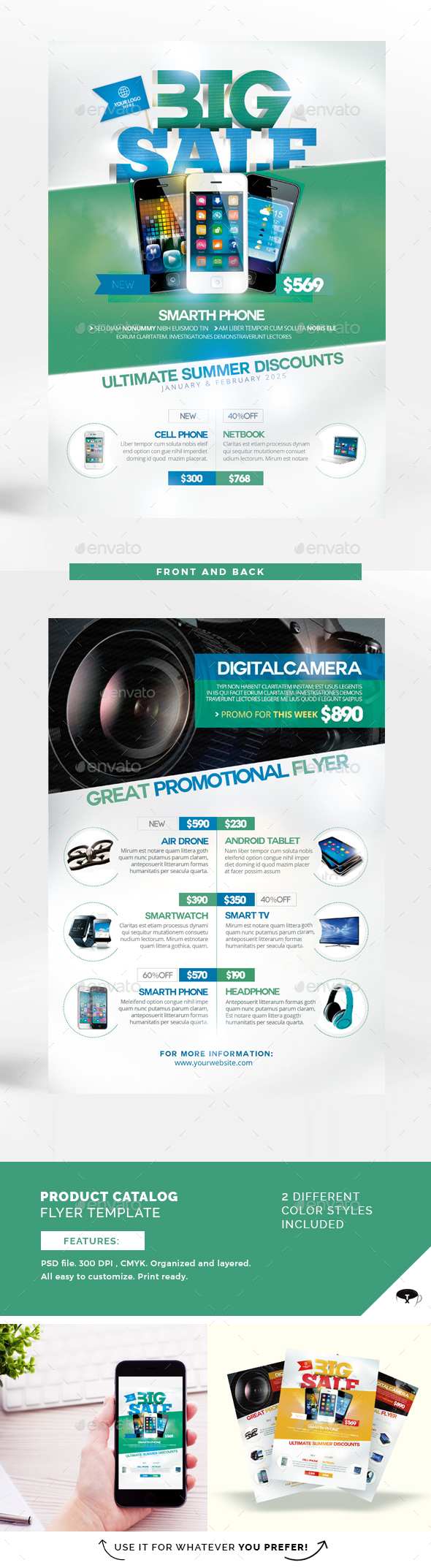 Product Catalog Flyer Template - Flyers Print Templates