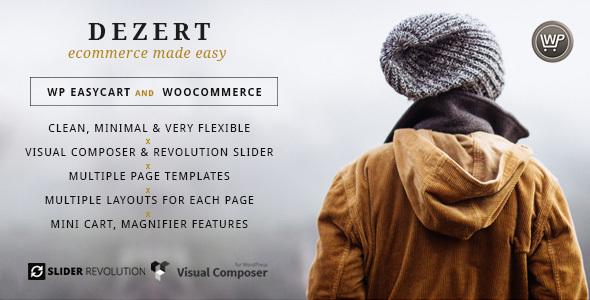 Dezert EasyCart & WooCommerce Shopping Theme - Retail WordPress