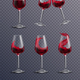 Realistic Wine Glass Set