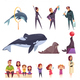 Dolphinarium Essential Characters Set