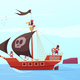 Pirate Ship Background Composition