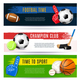 Sport Horizontal Banners Collection