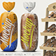 Glossy Transparent Bread Package with Clip Mockup - GraphicRiver Item for Sale