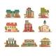 Urban and Suburban Buildings Facade Set