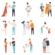People Giving and Receiving Gifts Set - GraphicRiver Item for Sale