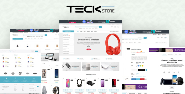Teckstore - Electronics Store Prestashop Theme for Affiliates and Multi-demo Websites V1.6 & V1.7 - Technology PrestaShop