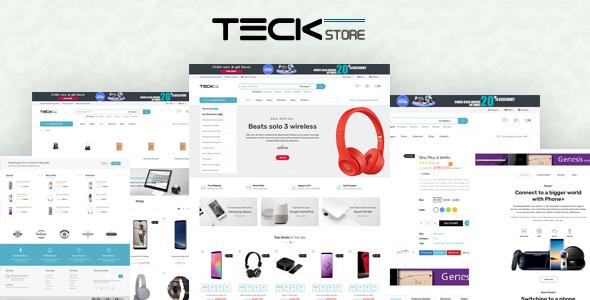 Teckstore - Electronics Store Prestashop Theme for Affiliates and Multi-demo Websites V1.6 & V1.7 - Technology PrestaShop