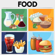 Cartoon Food Square Concept - GraphicRiver Item for Sale