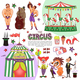 Flat Colorful Circus Template - GraphicRiver Item for Sale