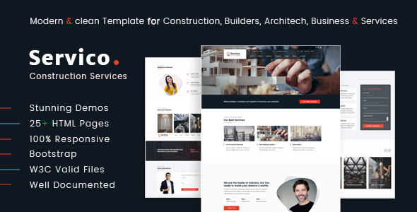 Image of Servico – Construction Services HTML5 Template