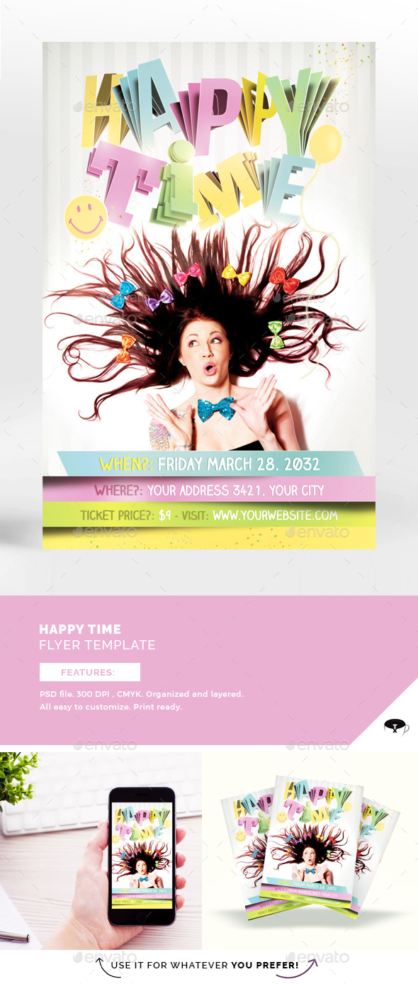 Happy Time Flyer Template - Events Flyers