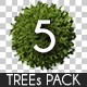 Top View Trees Pack 5 - GraphicRiver Item for Sale