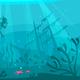 Scuba Diver Explores Ship Wreckage