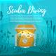 Scuba Diver Explores Treasure Chest