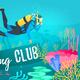Scuba Diver explores the sea