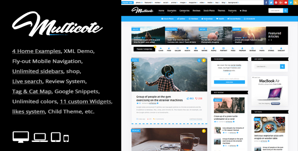 Image of Multicote - Magazine and WooCommerce WordPress Theme