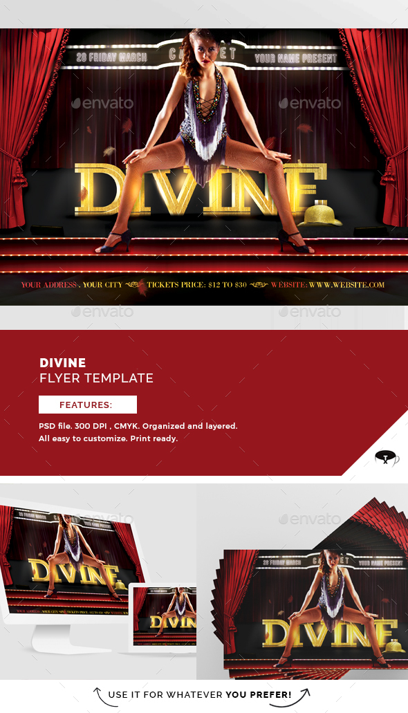 Divine Flyer Template - Flyers Print Templates