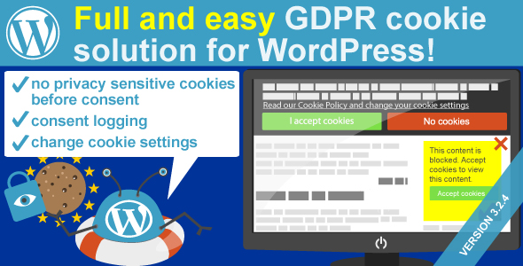 WeePie Cookie Allow - Complete GDPR Cookie Consent Solution for WordPress - CodeCanyon Item for Sale