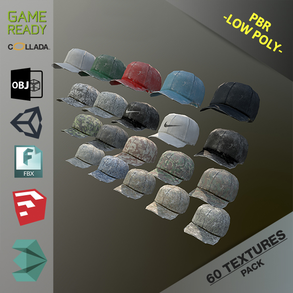 Caps Pack 1 - 3DOcean Item for Sale