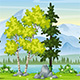Cartoon Summer Landscape - VideoHive Item for Sale