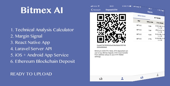 BitMEX Margin Signal AI with React Native android and ios application            Nulled