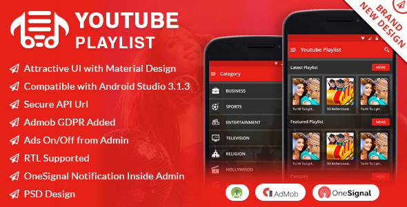 Youtube PlayList App - CodeCanyon Item for Sale