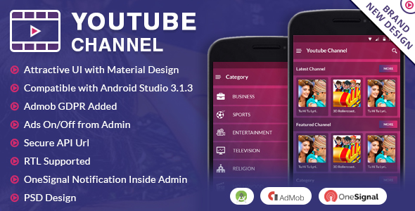 Youtube Channel App - CodeCanyon Item for Sale