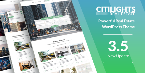 Image of CitiLights - Real Estate WordPress Theme