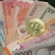 International Currency Banknotes with Digital Cryptocurrency Bitcoin - VideoHive Item for Sale