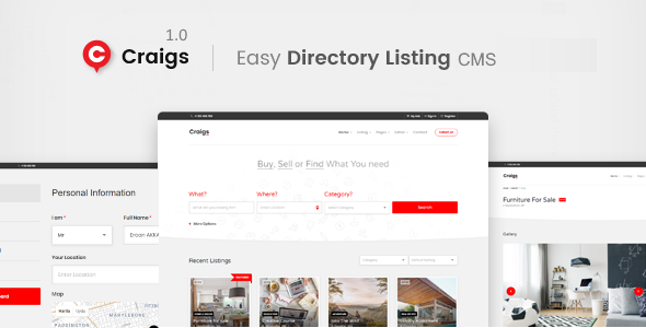 Craigs - Classified Ads CMS Theme            Nulled