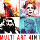 Mult Art - 4in1 Photoshop Actions Bundle - GraphicRiver Item for Sale