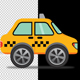 Taxi Car Cartoon - VideoHive Item for Sale
