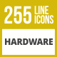 255 Hardware Line Inverted Icons