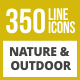 350 Nature & Outdoor Line Inverted Icons