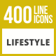 400 Lifestyle Line Inverted Icons