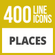 410 Places Line Inverted Icons