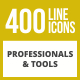 400 Professionals & their tools Line Inverted Icons