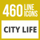 460 City Life Line Inverted Icons