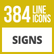 384 Signs Line Inverted Icons