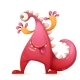 Monster Dino Character - GraphicRiver Item for Sale