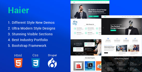 Haier | The Multipurpose Drupal 8 Theme