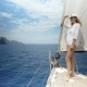 Woman on Sailboat on Luxury Summer Lifestyle Happy Adventure Travel Vacation - VideoHive Item for Sale