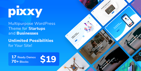 Pixxy - A Powerful Startup Business WordPress